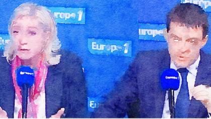 Valls avec Marine